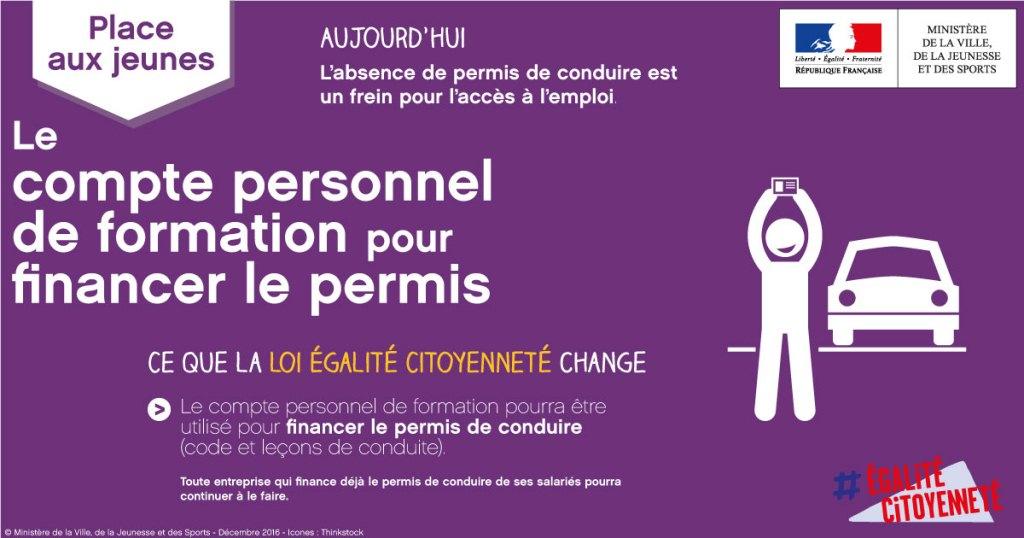 Compte Personnel de Formation - Financement de permis